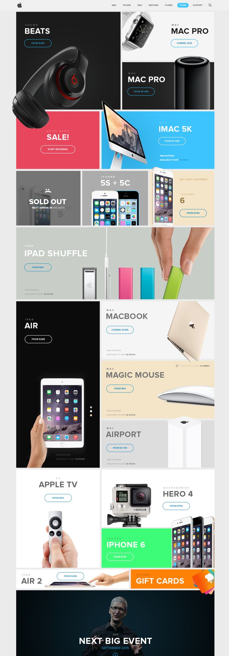 Apple Store Redesign by Vitali Zakharoff