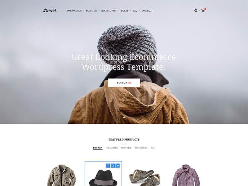 E-Commerce WordPress Template