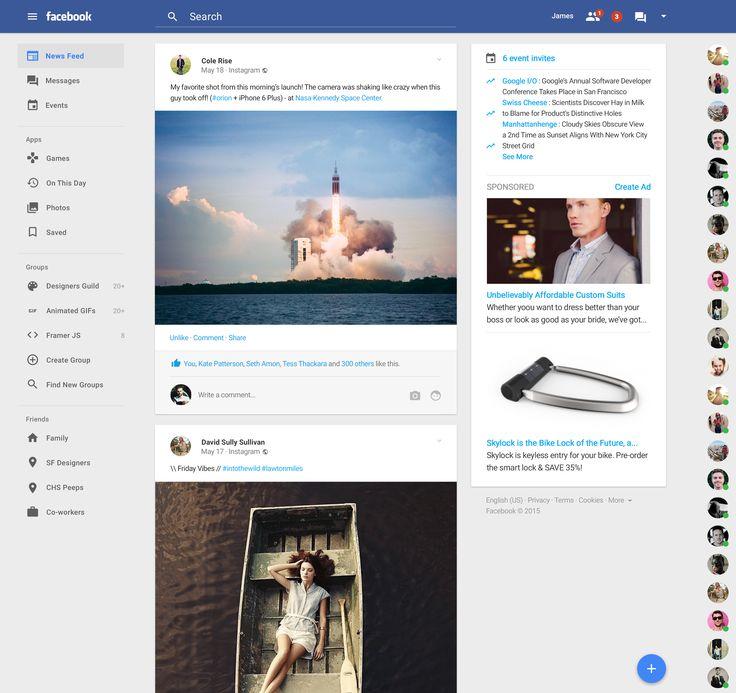Facebook redesign by James Bergen Plummer