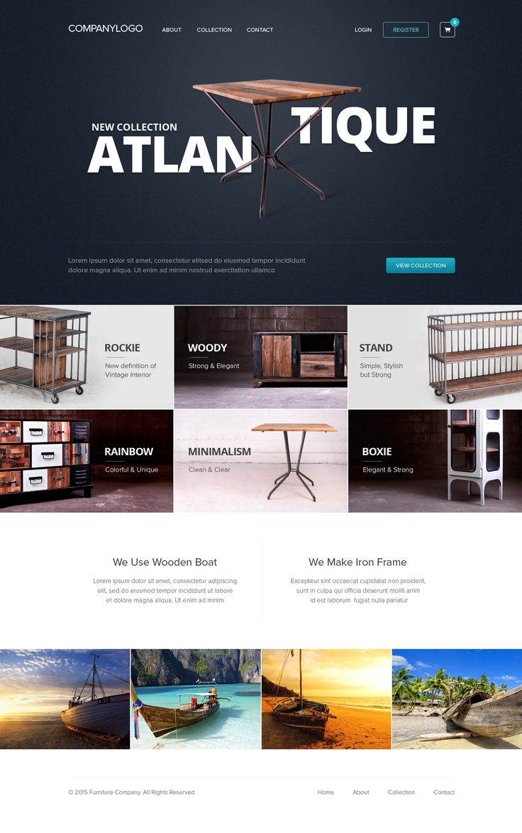 Furniture Homepage by Dwinawan Hariwijaya