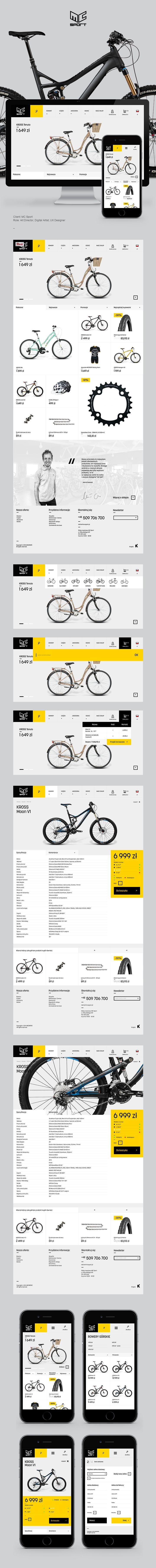 MC Sport Website by Krzysztof Turek