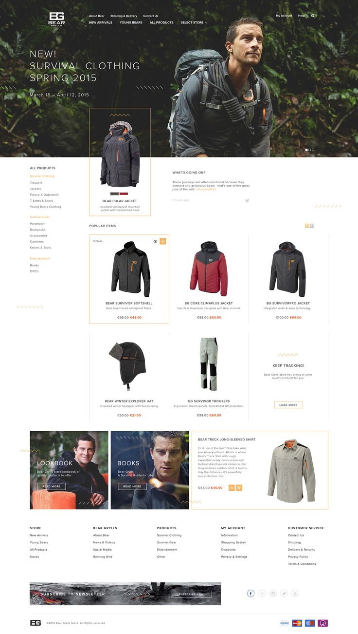 Bear Grylls Store Re-Design Concept by Gintaras Elmonas