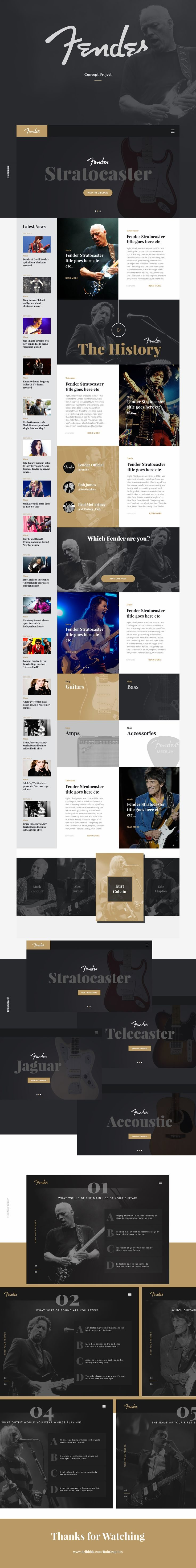 Fender Concept Page by Rob James