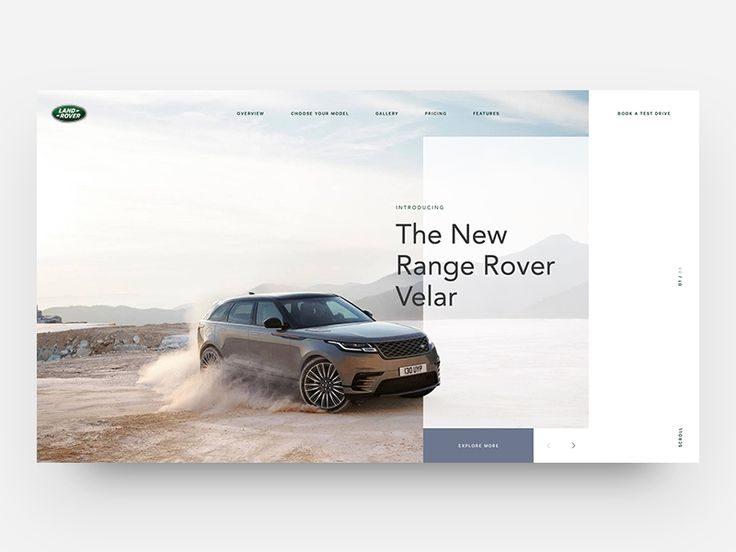 Range Rover Velar – Homepage Concept