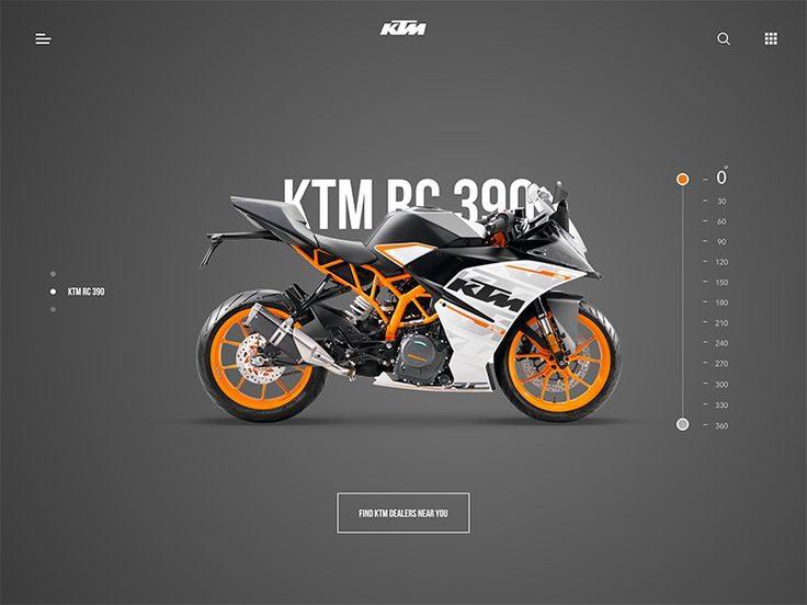 KTM RC 390 – Landing page by Divan Raj